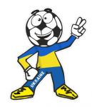 Novelty FOOTBALL HEAD MAN With Ukraine Flag Motif For Football Soccer Team Supporter Vinyl Car Sticker 100x85mm